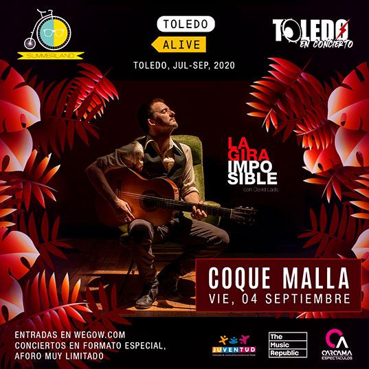 Coque Malla actuará en Toledo el viernes 4 de septiembre de 2020