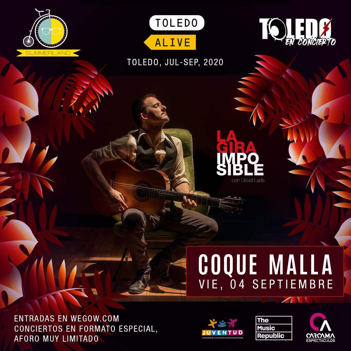 Concierto de Coque Malla - Toledo Alive 2020