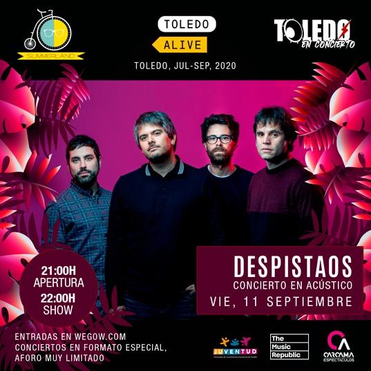 Concierto de Despistaos en Toledo el viernes 11 de septiembre de 2020