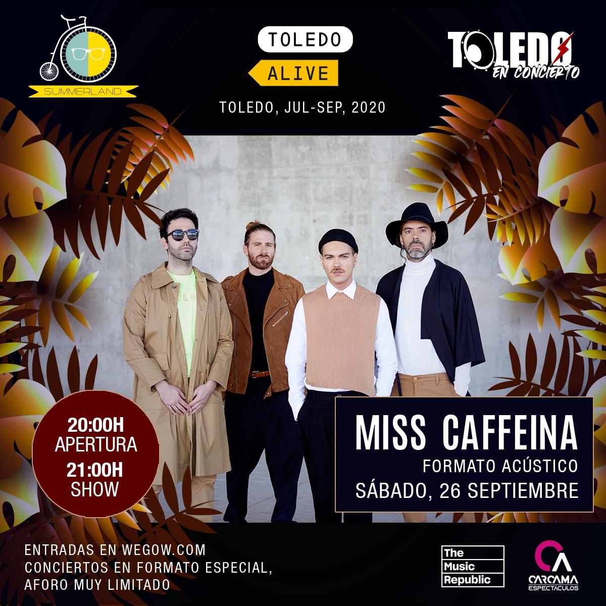 Concierto de Miss Caffeina - Toledo Alive 2020